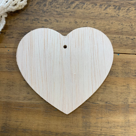 "Unfinished Wood Heart Ornament, 3"" Inch (1)"