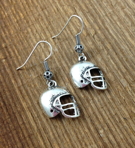 Simple Football Earrings