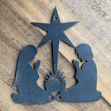 Metal Nativity Ornament, Unpainted (1) - 4""