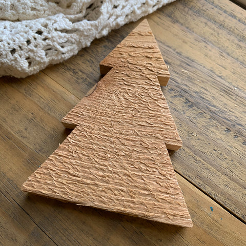 Unfinished Wood Christmas Tree Shape (1)