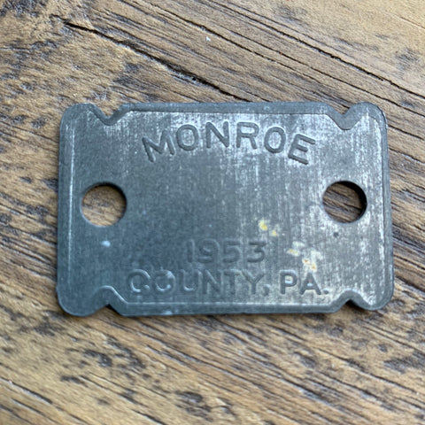 Vintage Steel Dog Tag (1)
