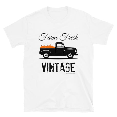 Farm Fresh Vintage Pickup Truck with Pumpkins T-Shirt for Fall