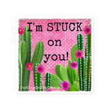Stuck on You Cactus Valentine Sticker