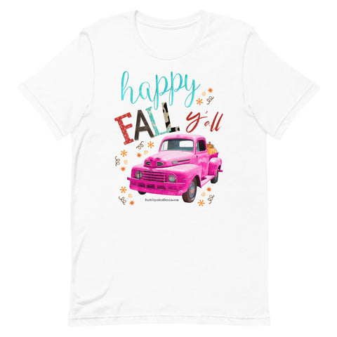Happy Fall Y'all T-Shirt with Pink Truck