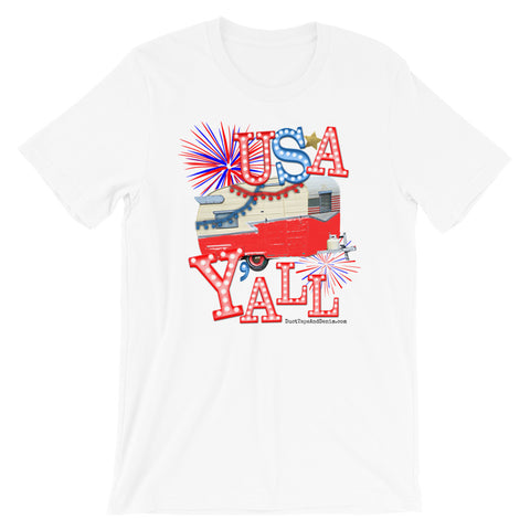 USA Y'all Patriotic T-Shirt in Blue