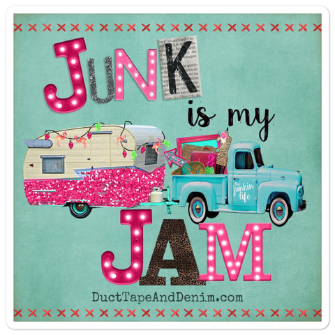 Junk is My Jam Sticker - Turquoise