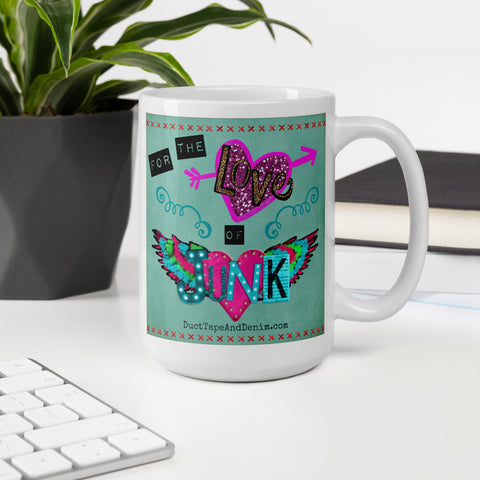 For the Love of Junk Winged Heart Mug