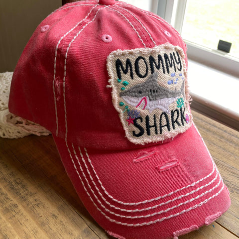 Mommy Shark Baseball Cap