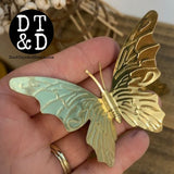 Vintage Brass Butterfly Stampings (1) - 2""