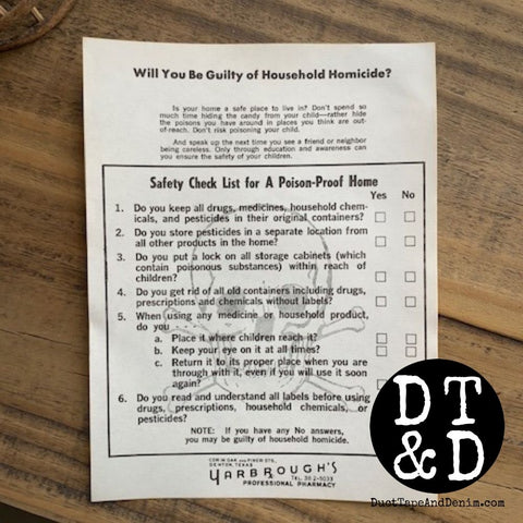 Vintage Poison-Proof Home Checklist (1)