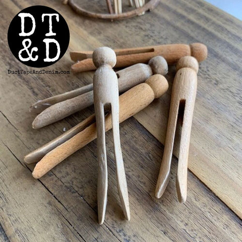 Vintage Wooden Clothespin