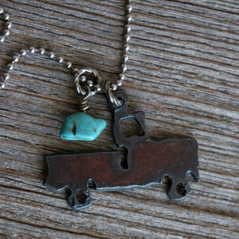 Rustic Pickup Truck Necklace