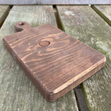 Small Cutting Board, Stained Wood - 3 Shapes