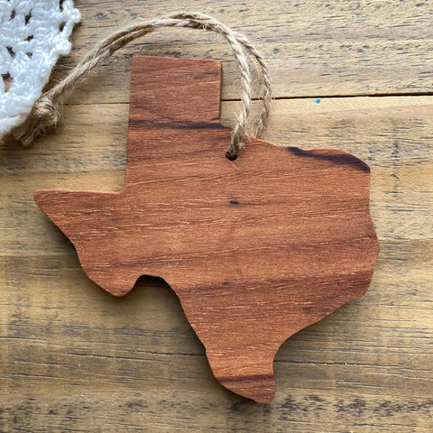 Texas Pecan Wood Ornament