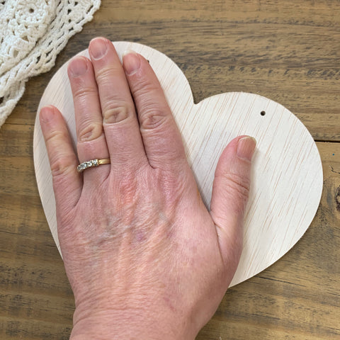 "Unfinished Wood Heart Sign or Large Ornament, 7"" Inch (1)"