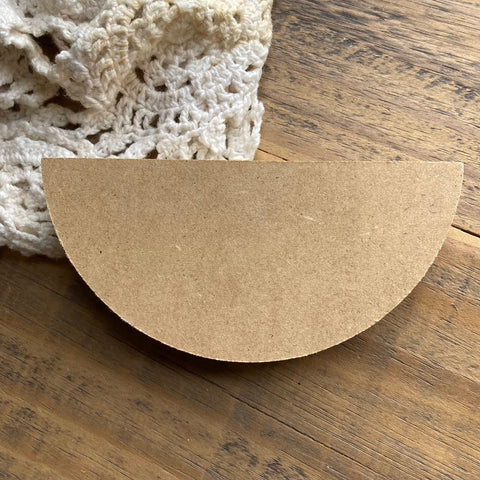 "Chunky Wood Half-Circle for Crafting, 4 3/4"" (1)"