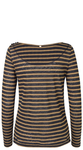 Striped Linen Tee by Noa Noa