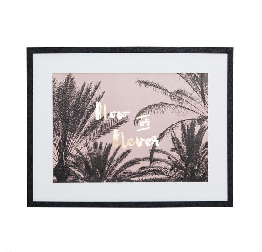 Now Or Never Framed Print - FashionLife