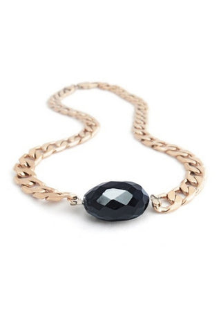 Chunky Choker Necklace - Onyx - FashionLife  - 1