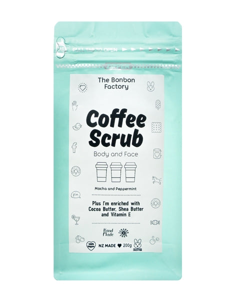 Coffee Scrub - Body & Face - Mocha & Peppermint - SMELLS AMAZING!
