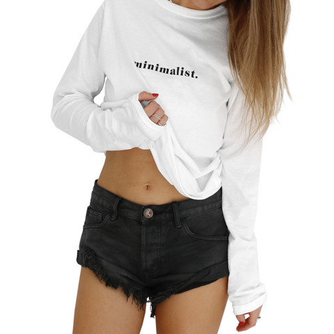 Minimalist White Long Sleeve Tee