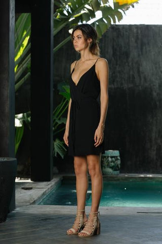 Icon Wrap Dress - Jet Black