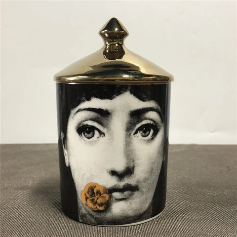 PIERO FORNASETTI INSPIRED CANDLE HOLDER