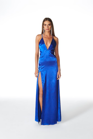 Mistress Slinky by Lioness - stunning electric blue maxi!