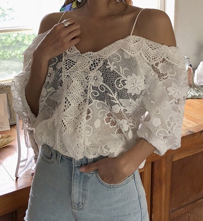 Lace Off Shoulder Top - Gorgeous!