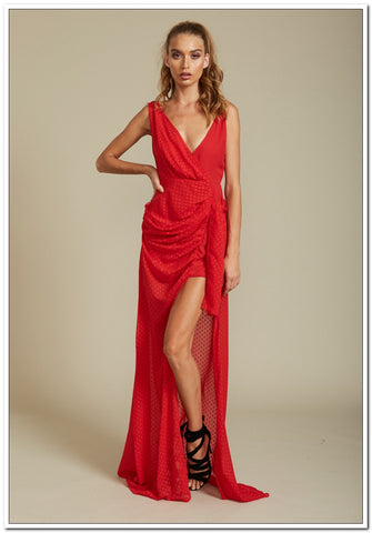 Take Me To Cannes Maxi Dress - Red - Stunning!!