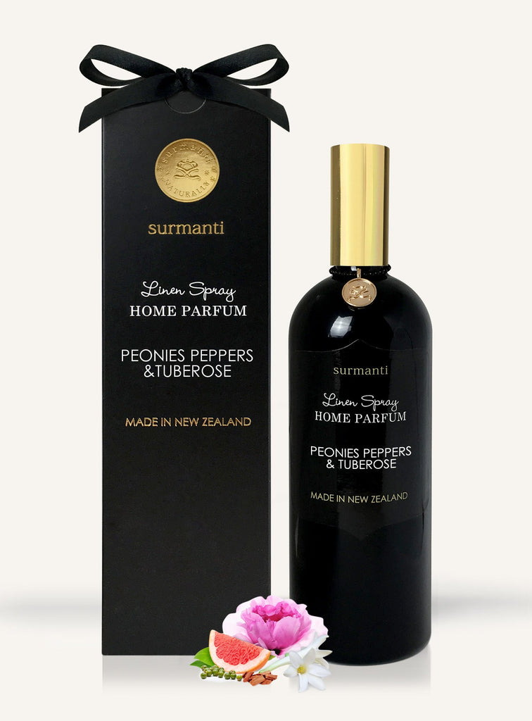 Gorgeous home parfum spray from Surmanti!  Peonies Peppers & Tuberose - just divine.  FREE SHIPPING FROM FASHIONLIFE