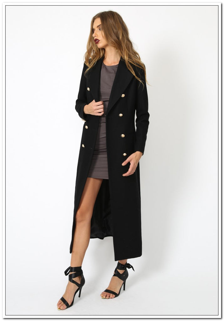 Donatella Long Winter Coat - FashionLife  - 4