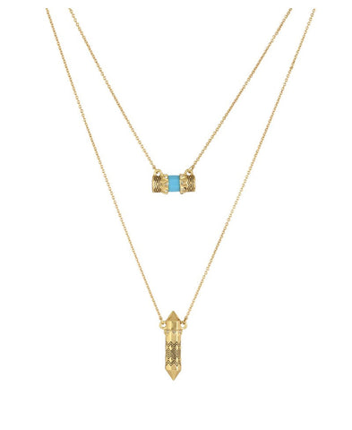 Prana Double Pendant Necklace - FashionLife  - 1