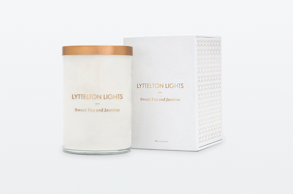 SWEET PEA & JASMINE - LUXE CANDLE BY LYTTLETON LIGHTS - 110 HOURS BURN TIME