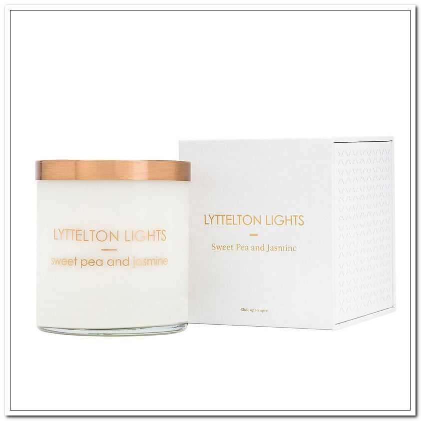 Sweet Pea & Jasmine - Luxe Candle by Lyttleton Lights - 810g - Divine!