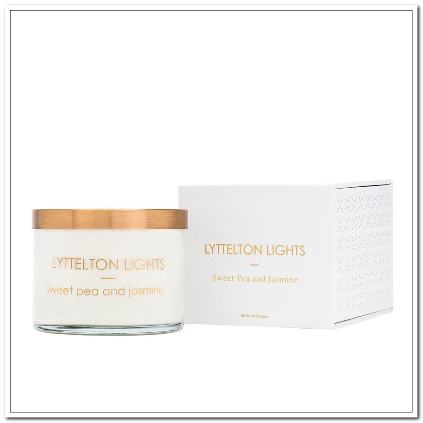 Sweet Pea & Jasmine - Luxe Candle by Lyttleton Lights - 600g