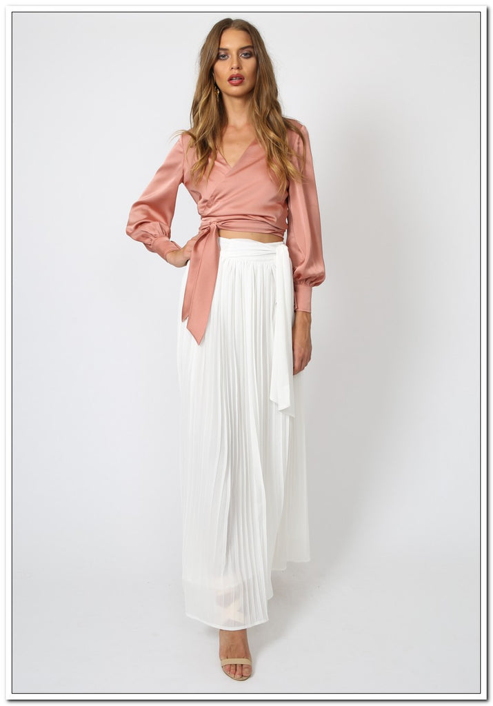 Taromina Wrap Top - Blush - FashionLife  - 3