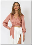 Taromina Wrap Top - Blush - FashionLife  - 1
