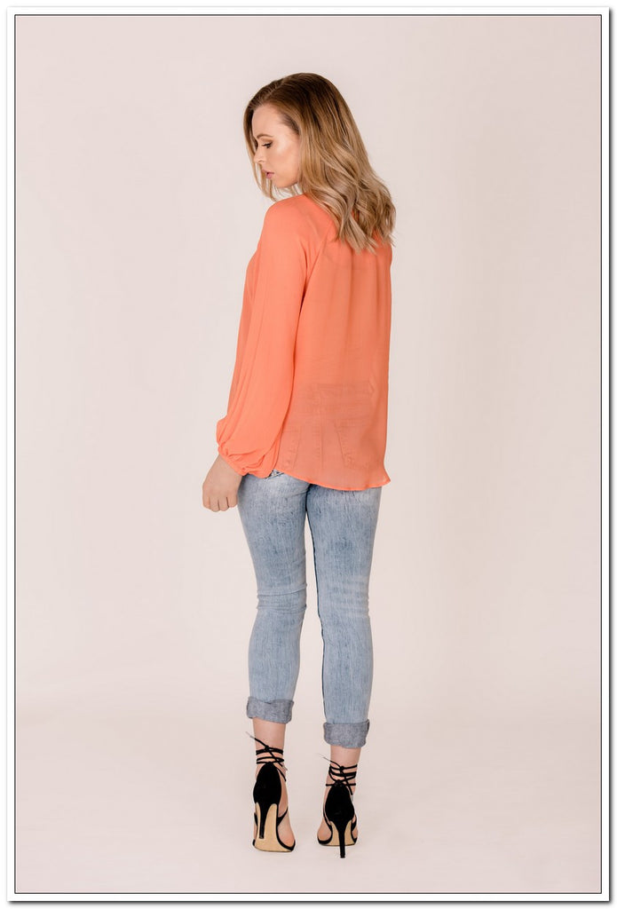 Amelie Top - Coral - FashionLife  - 2