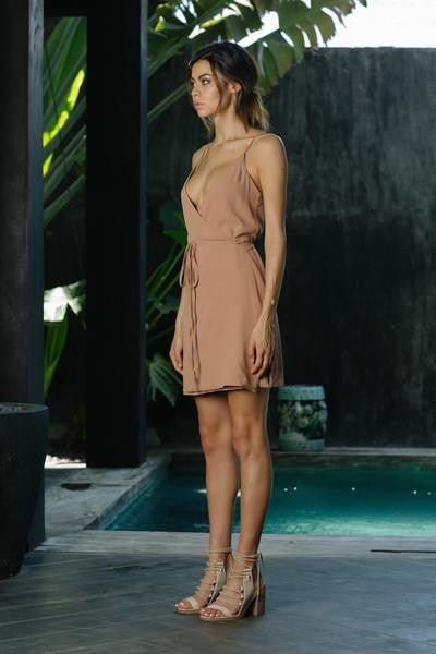 Icon Wrap Dress - Dirty Blush