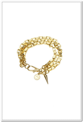 Silk & Steel - Chained Up Bracelet - Gold - FashionLife  - 1