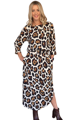 SOHO DRESS - LEOPARD PRINT - LUXE!