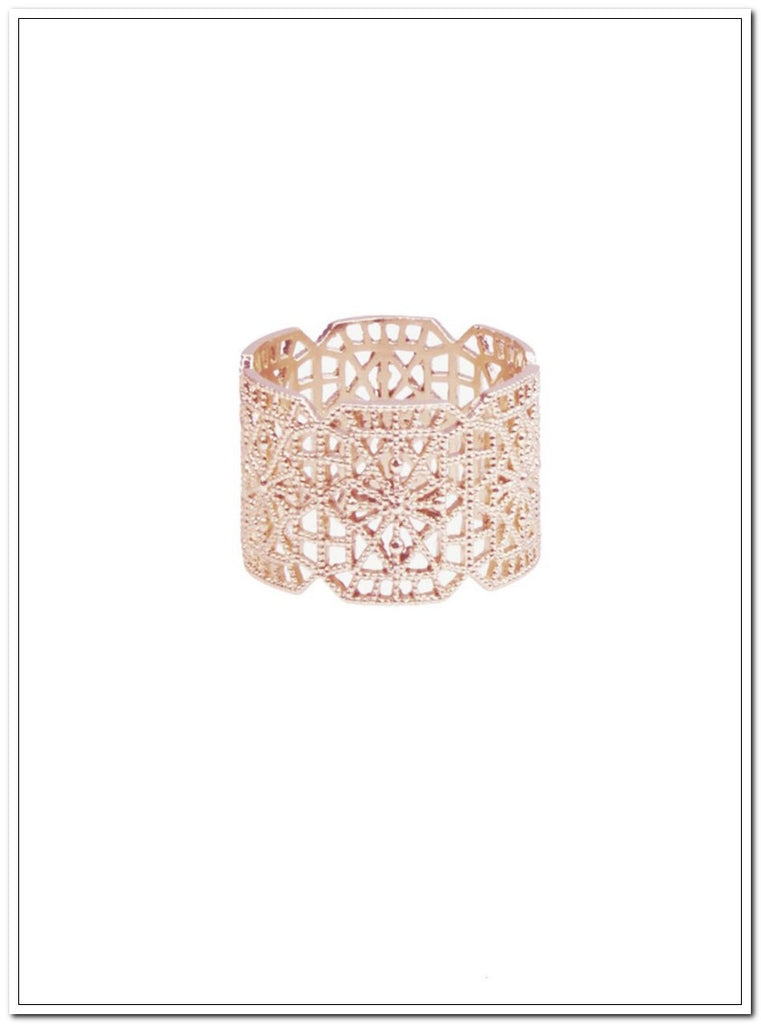 Botanic Lace Ring - Rose Gold