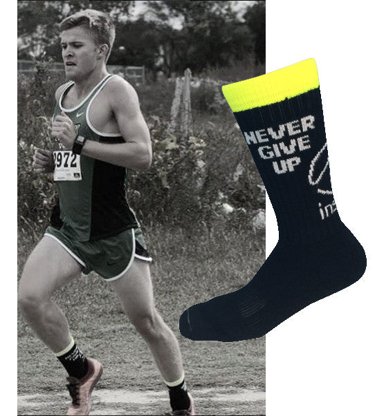 My socks keep me going when the race gets tough!