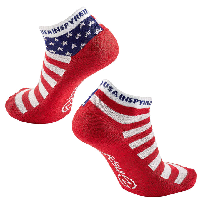 "Inspyr Socks ""USA Inspyred"" Inspirational Ankle Sock"