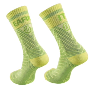 "Inspyr Socks ""Earn It"" Inspirational Crew Sock"
