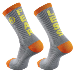 "Inspyr Socks ""Fear Less"" Inspirational Crew Sock"