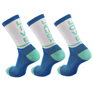 "Inspyr Socks ""Live Laugh Love"" Tri Inspirational Crew Socks"