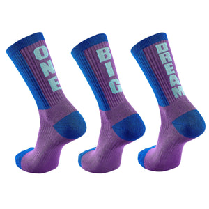 "Inspyr Socks ""One Big Dream"" Tri Inspirational Crew Socks"
