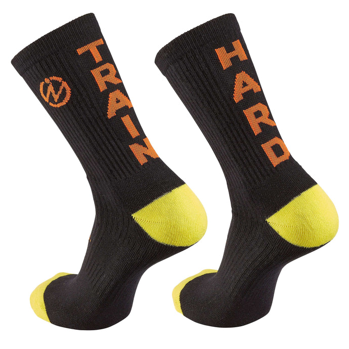 "Inspyr Socks ""Train Hard"" Inspirational Crew Sock"